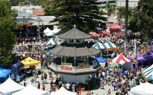 Aerial view of the festival