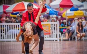 Salsa Dancers on dance floor