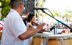 Band playing at Salsa Festival
