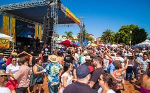 Oxnard Salsa Festival main stage and dance floor