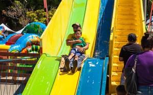Kids slide in kids zone