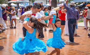 Kids dancing on festival dance floor