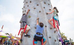 rock wall in kids zone
