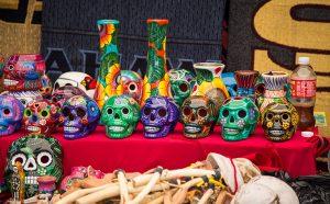 Sugar skulls at vendor booth