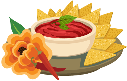 Chips and salsa icon