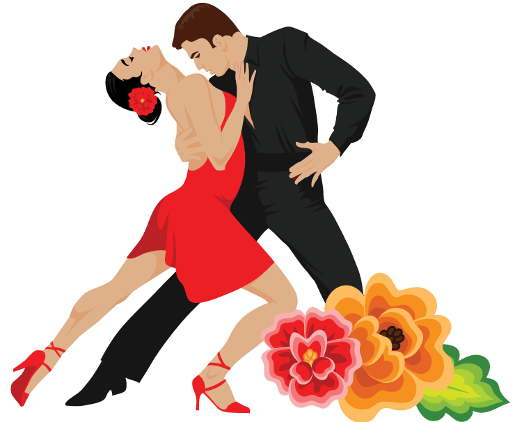 Salsa dancers icon