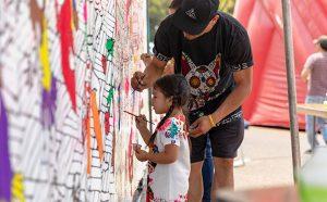 Little Kid Painting Mural